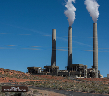 Image of the coal fired Navajo Generating Station on the Navajo Indian Reservation.